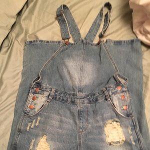 Distressed Overalls, Never Worn